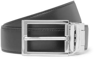 Ermenegildo Zegna 3cm Black And Tan Reversible Leather Belt