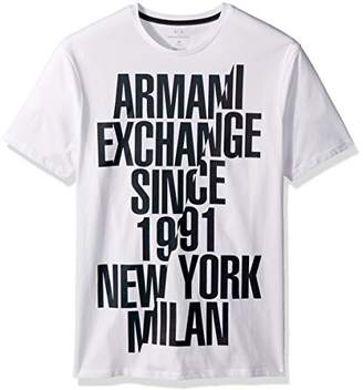 Armani Exchange A|X Men's Sliced Established Graphic Tee
