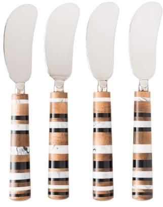 Juliska Stonewood Stripe Set of 4 Spreaders