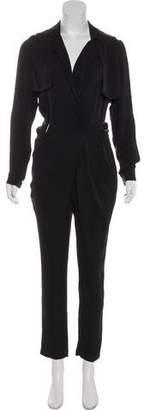 Gucci Long Sleeve Silk Jumpsuit