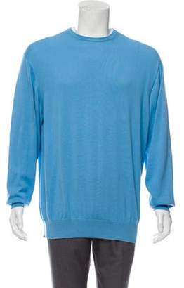 Loro Piana Knit Crew Neck Sweater blue Knit Crew Neck Sweater