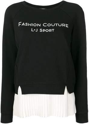 Liu Jo pleated trim sweatshirt