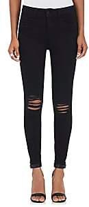 L'Agence Women's Margot Distressed Skinny Jeans - Zinc Destr