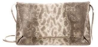 Lanvin Metallic Snakeskin Crossbody Bag