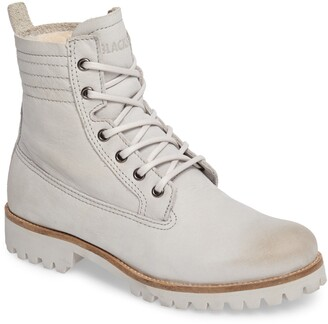 Blackstone OL22 Lace-Up Boot with Genuine Shearling Lining