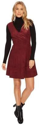 BB Dakota Lynne Faux Suede Fit Flare Dress Women's Dress