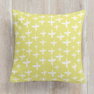Crossed Leaves Square Pillow