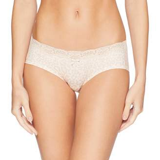 Maidenform Women's Comfort Devotion Embellished Hipster Panty, Gentle Animal Print/Plum Grey