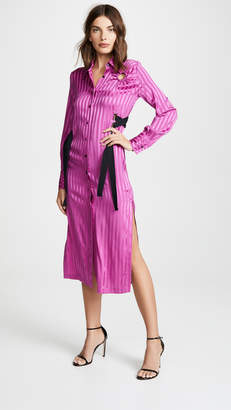 Yigal Azrouel Stripe Silk Shirtdress