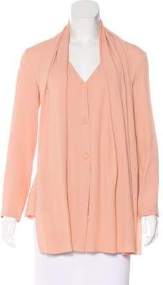 Lanvin Pleated Button-Up Top
