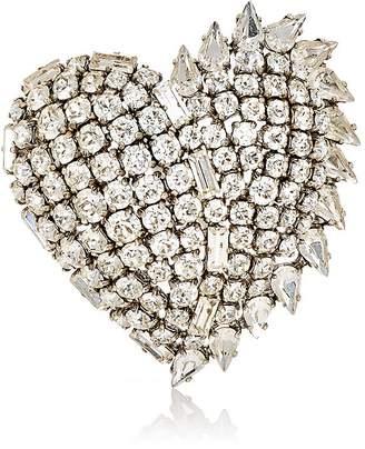 Saint Laurent Heart Crystal Fringe Pin CMc7tpZ4rs
