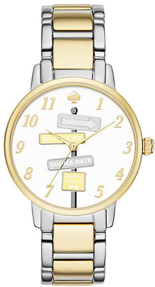 Two tone gold street signs gramercy watch $225 thestylecure.com