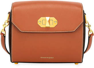 Alexander McQueen Box Bag 21 Smooth Leather Shoulder Bag with Flap