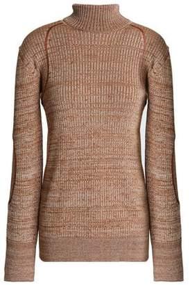 Nina Ricci Marled Ribbed-Knit Turtleneck Sweater
