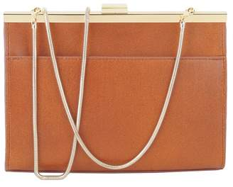 Most Wanted Design by Carlos Souza Kiss Lock Leather Clutch