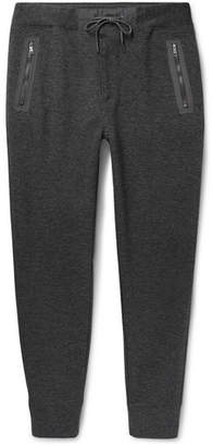 Polo Ralph Lauren Slim-Fit Tapered Shell-Trimmed Birdseye Cotton-Blend Sweatpants