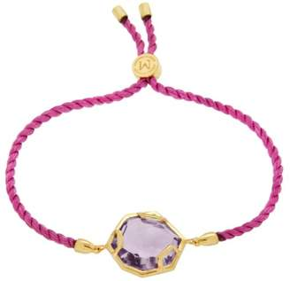 Missoma 18ct Gold Plated Astra Pink Rope Bracelet with Hydro Amethyst