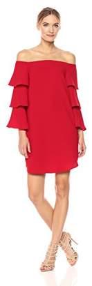 Nanette Lepore Nanette Women's Long Shoulder Shift Dress W/Tiered Bell Sleeve