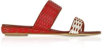 Rodo Brown Suede Flat Slide Sandals