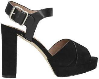 Bibi Lou Black Suede And Leather Sandals