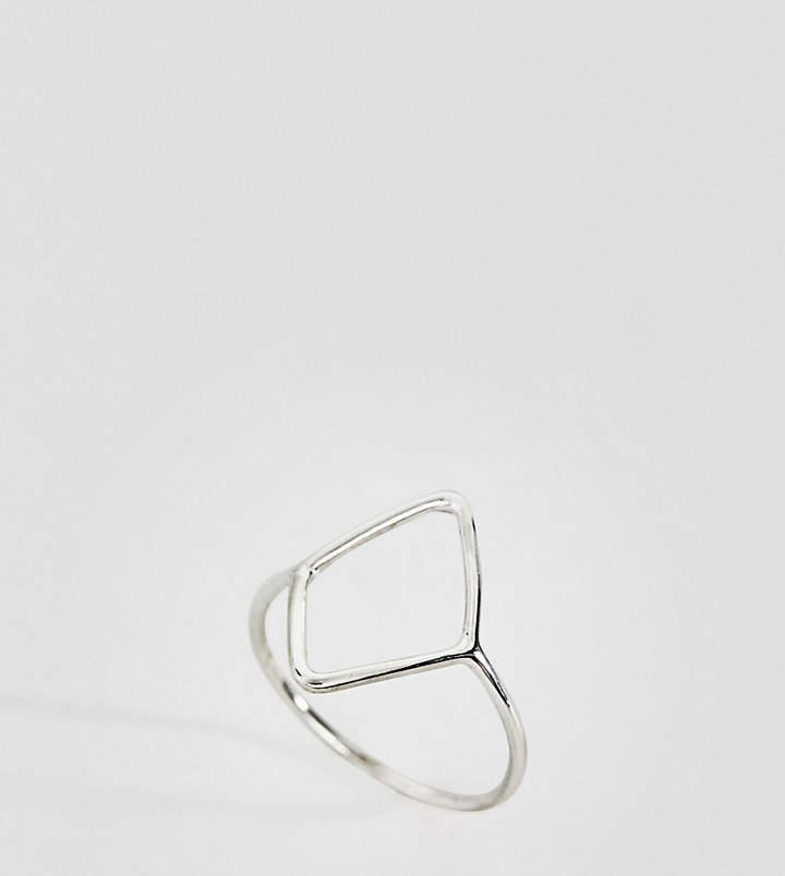 Kingsley Ryan – Ring aus Sterlingsilber mit offener Rautenform