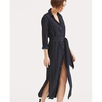 Ralph Lauren Pinstripe Silk Shirtdress
