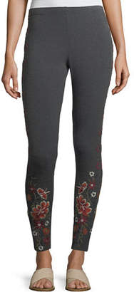 Johnny Was Waleska Embroidered Leggings $110 thestylecure.com