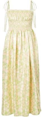 Calvin Klein ruched floral dress
