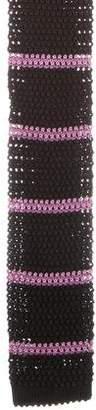 Ralph Lauren Purple Label Striped Silk Knit Tie