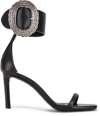 Saint Laurent Joplin Buckle Heels in Black | FWRD