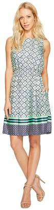 Donna Morgan Pleated Fit and Flare Dress Women's Dress