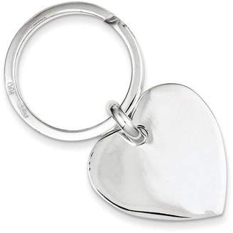 Kevin Jewelers Sterling Silver Heart Key Ring