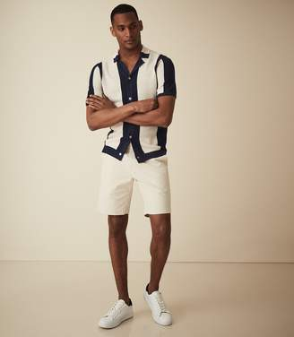 Reiss WICKET CASUAL CHINO SHORTS Stone