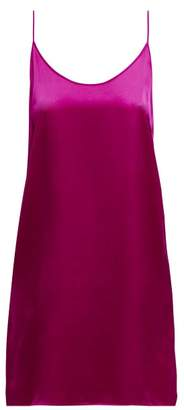 Araks Pearl Silk Satin Slip Dress - Womens - Pink