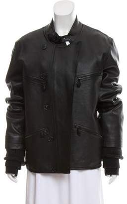 Alexander Wang Leather Oversize Jacket