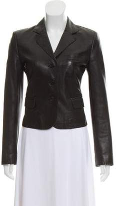 Strenesse Structured Leather Blazer