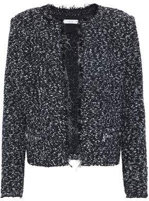 IRO Coffey Frayed Bouclé-Tweed Jacket