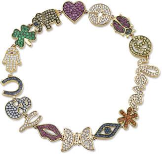 Sydney Evan 15th Anniversary Diamond & Sapphire Charm Bracelet
