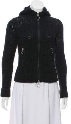 Marc by Marc Jacobs Zipper-Accented Hooded Cardigan