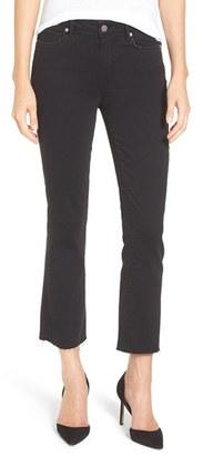 Women's Paige 'Colette' High Rise Raw Hem Crop Flare Jeans $209 thestylecure.com
