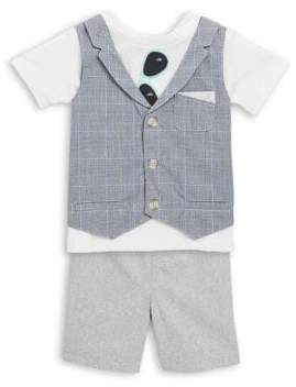 Baby Boy's Two-Piece Vested Top and Shorts Set