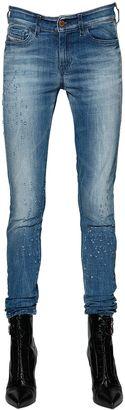 Slandy Cotton Denim Skinny Jeans $226 thestylecure.com