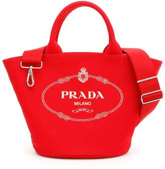 Prada Logo Shopping Bag