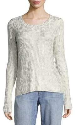 Saks Fifth Avenue Animal Foil Knit Sweater