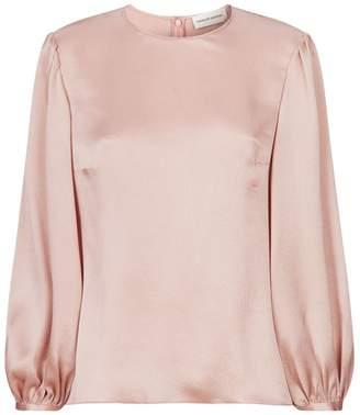 7c5ac1a728395 Puff Sleeve Silk Top - ShopStyle UK