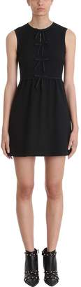 RED Valentino Bow Black Viscose Dress