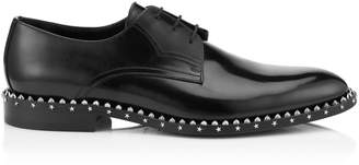 Jimmy Choo AXEL Black Shiny Calf Lace Up Shoes