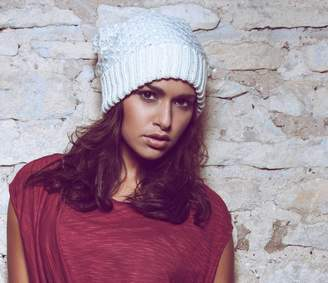 Funi Slouchy Tie Down Hand Knitted Beanie