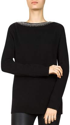The Kooples Bead & Sequin-Trimmed Wool & Cashmere Sweater