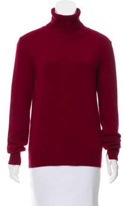 Celine Rib Knit Trimmed Turtleneck Sweater